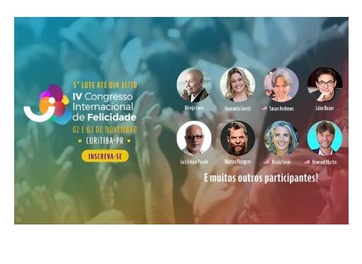 Congresso Internacional de Felicidade 2019 Curitiba
